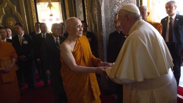 Reciprocal affection between pope and Buddhist Supreme Patriarch of Thailand
