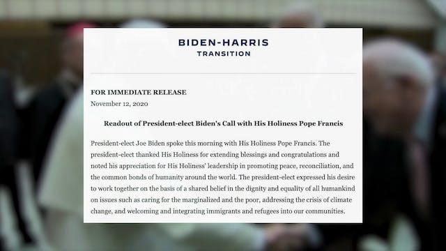 Pope Francis calls U.S. President-Ele...