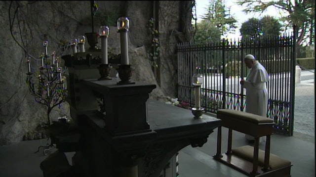 Why Pope Francis will pray the rosary at Lourdes Grotto replica on Saturday