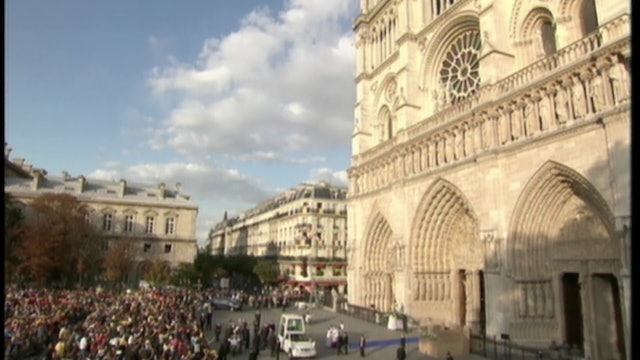 Pope's message to Paris: Reconstruction will make Notre Dame precious ark again