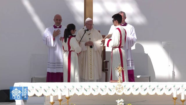 Pope celebrates Mass in Abu Dhabi sta...