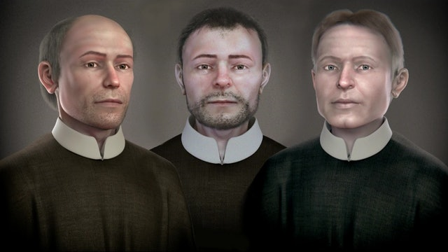 Three martyrs faces finally discovered 400 years after their deaths
