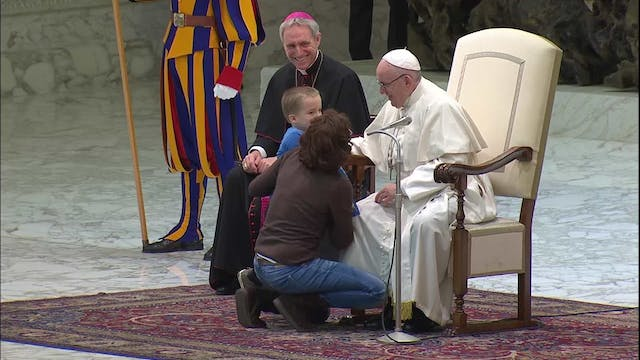 "Autistic boy moves the pope: ""It made..."
