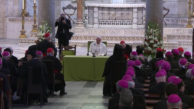Pope meets with Mediterranean bishops...