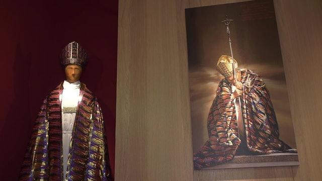 Copy of John Paul II's famous Jubilee vestment displayed in Rome