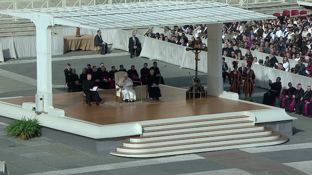 """Pope Francis explains the first invocation in the """"Our Father"""" prayer"""