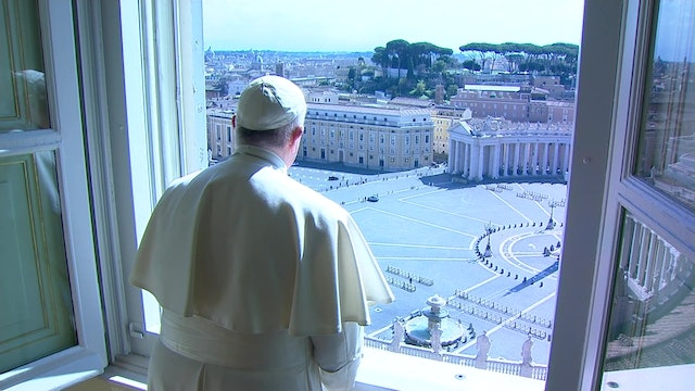 Pope returns to pray Regina Coeli from his window in St. Peter's Square