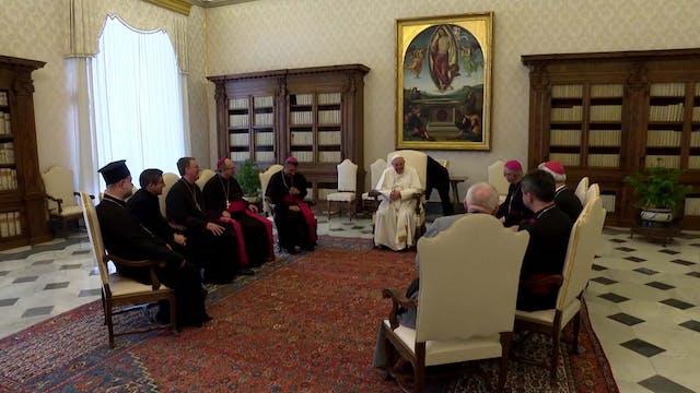 Kazakhstan bishops present pope image...