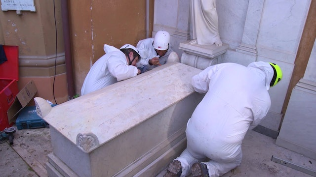 Why were two graves in the Vatican cemetery empty?