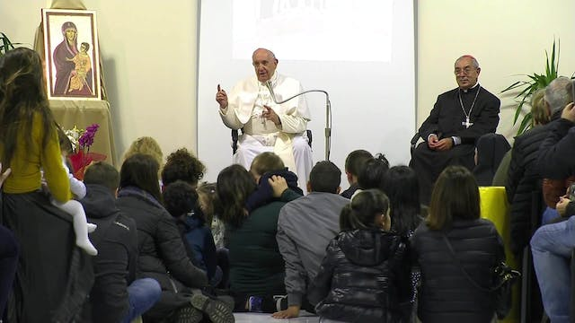 Pope's poignant visit to Caritas Center