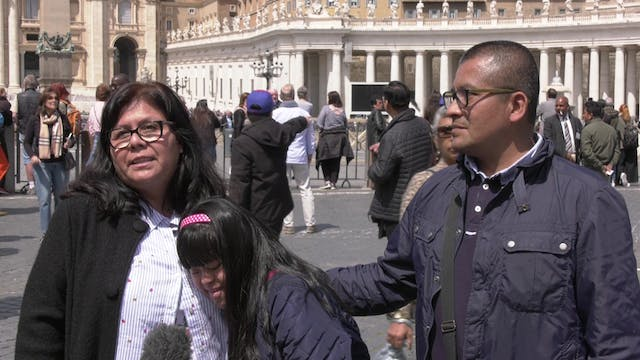 Peruvian family travels to Rome to se...