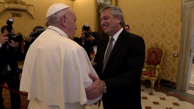 Cordial 1st meeting between pope & ne...