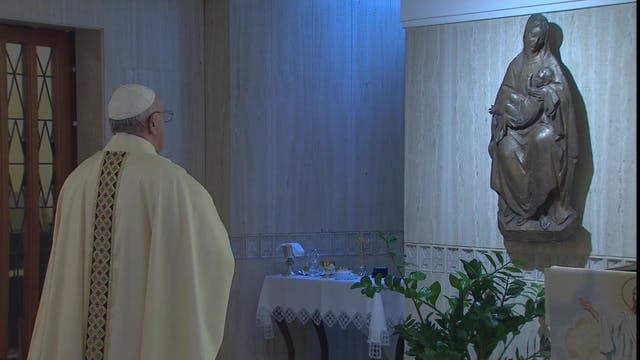 Pope at Santa Marta: God speaks littl...