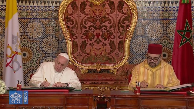 Pope Francis and Moroccan King sign joint appeal for Jerusalem