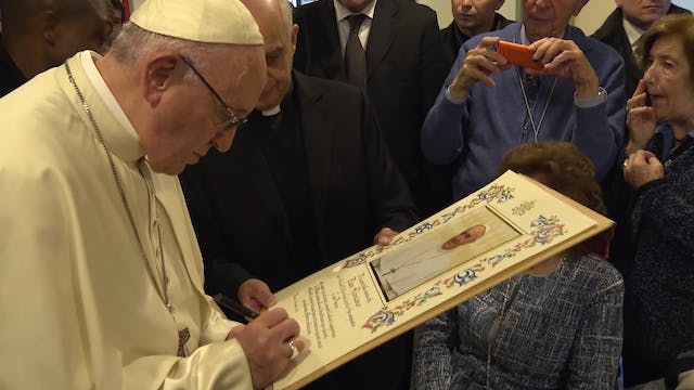 Pope Francis visits sick young people...