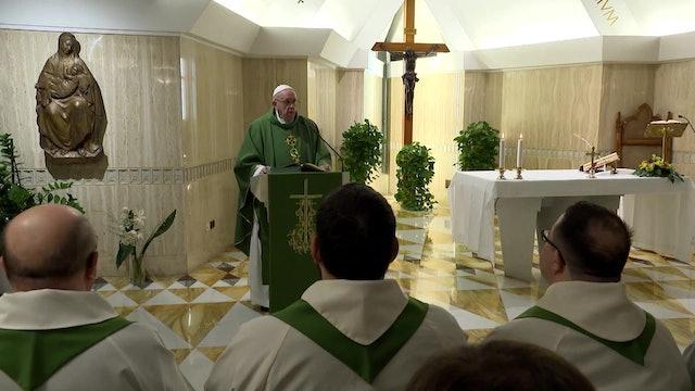 Pope at Santa Marta: If we are worldly, God will judge us accordingly