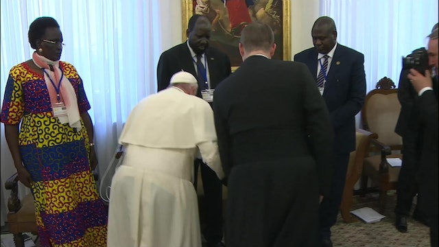 April 2019: Pope's powerful gesture to promote peace in South Sudan