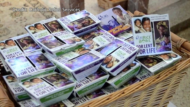 Lenten alms given one rice bowl at a time for Catholic Relief Services