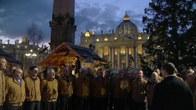 Carol dedicated to Baby Jesus fills St. Peter's Square