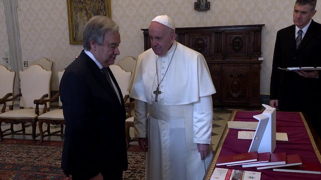 Pope Francis meets with UN Secretary-...