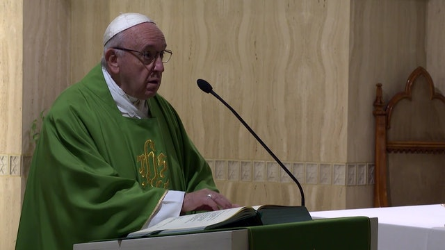 "Pope Francis in Santa Marta: to achieve peace and unity learn to ""endure"""