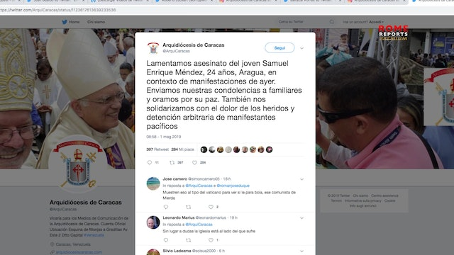 Venezuelan bishops call for an end to repression and denounce Church assault