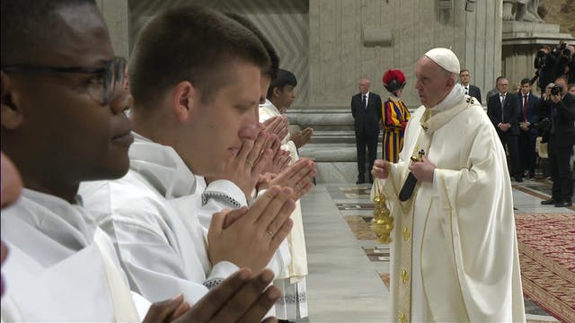 Pope Francis ordains new priests: Don...