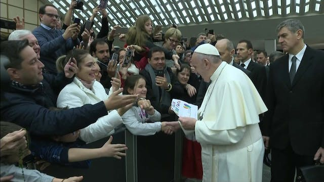 Pope explains God is a tender father,...