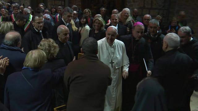 Pope Francis visited Greccio to sign ...