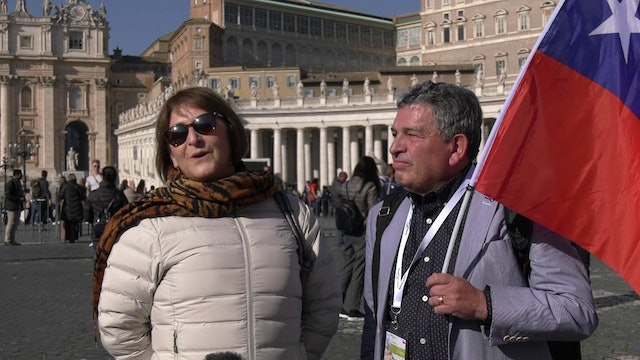 Chilean couple celebrates 39 year-anniversary and renews vows in Rome