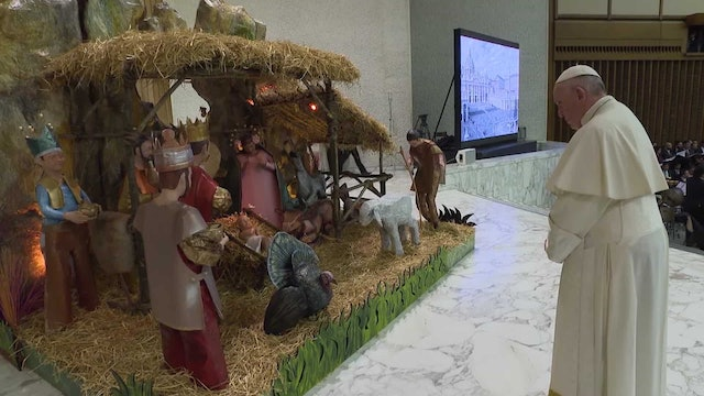 Mexican Nativity scene showcased in Paul VI Audience Hall