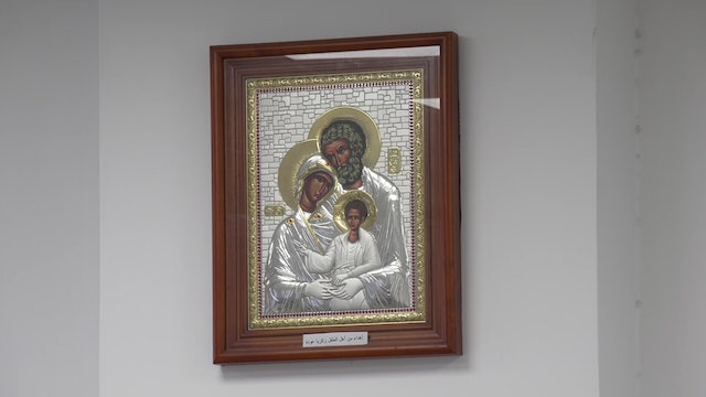 Image of Holy Family that protects babies, a gift from a Muslim mother