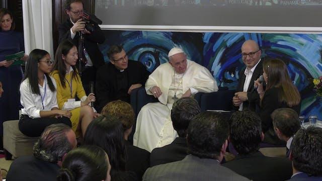 Pope visits Scholas Headquarters: Bet...