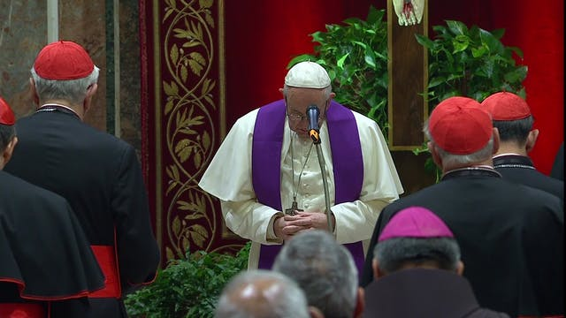 Pope prays before victim and asks God...