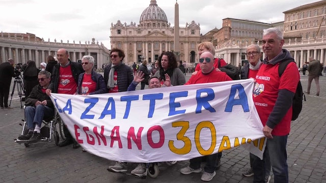 Disable organization come to Rome to see Pope Francis