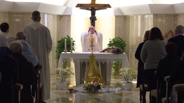 Pope in Santa Marta: a worldly spirit is worse than sin