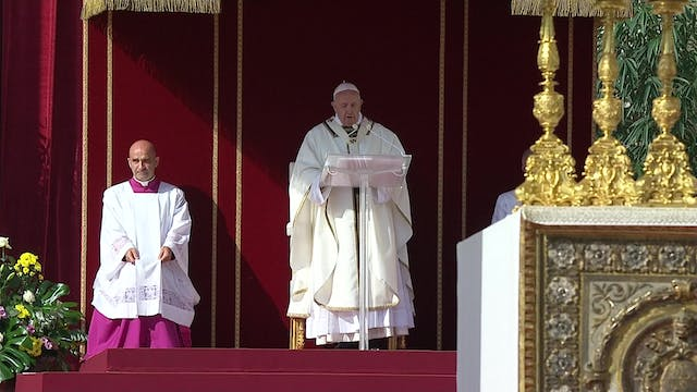 Pope canonizes Cardinal Newman and Ir...