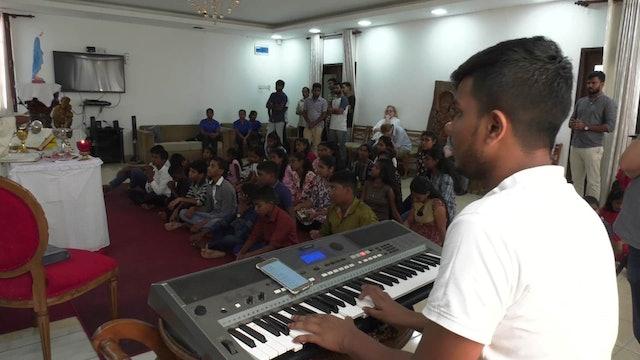 Sri Lanka's choir singing in Church after massacre of 100 parishioners