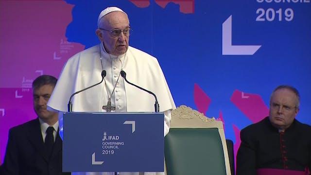 Papa en la FAO: Es paradójico que 820...