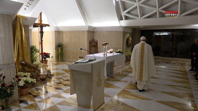 Papa en Santa Marta: Solo la fe puede...