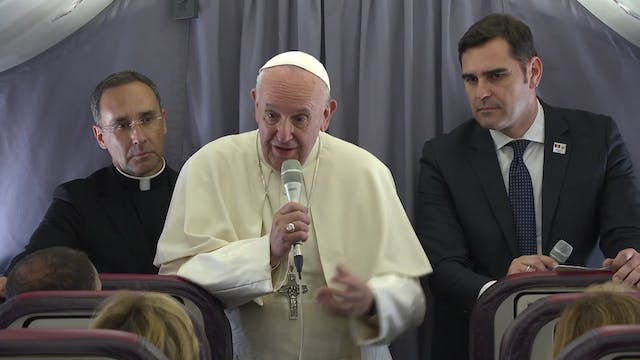 Pope Francis' flight press conference...