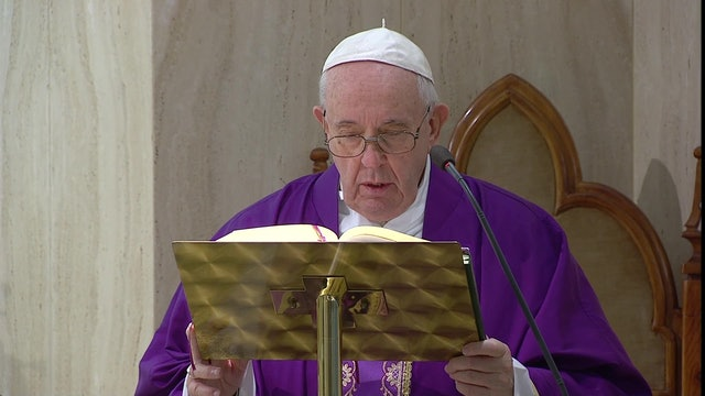 Pope Francis prayed to conquer fear created by pandemic