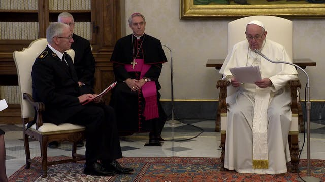 Pope describes lesson he received fro...