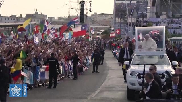 Enero de 2019: El Papa se reúne en Panamá con jóvenes de todo el mundo