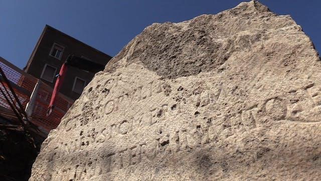 Descubren antiguo hito romano durante...