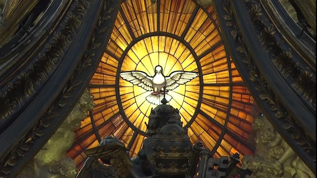 Pope celebrates Pentecost with two packed masses