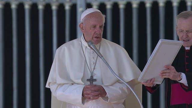 Papa en audiencia alerta del odio con...
