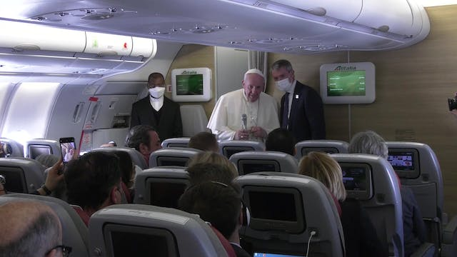Pope Francis explains why he traveled...