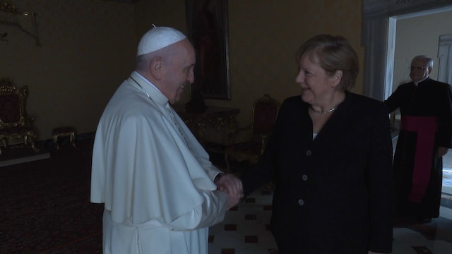 German Chancellor Angela Merkel meets with Pope Francis at the Vatican