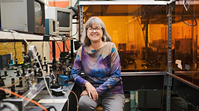 Donna Strickland, one of the three No...